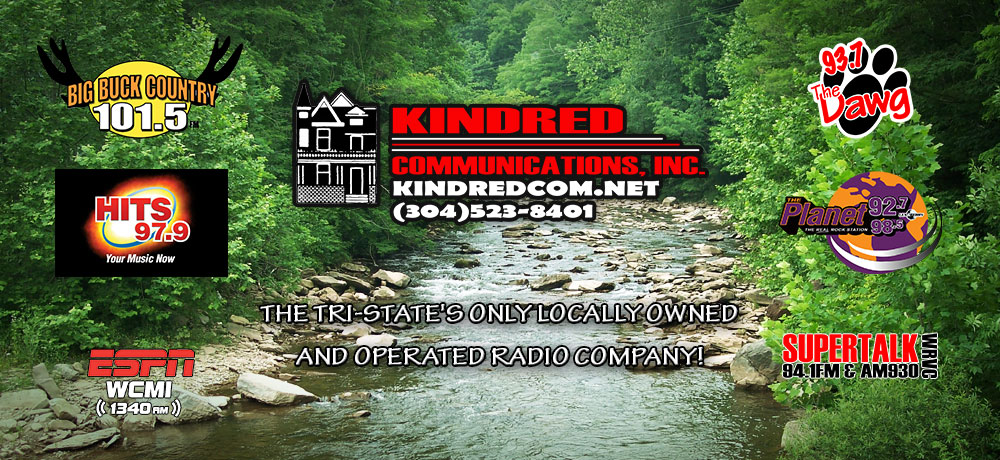 Kindred Communications is the tri-state's only locally owned and operated radio company.